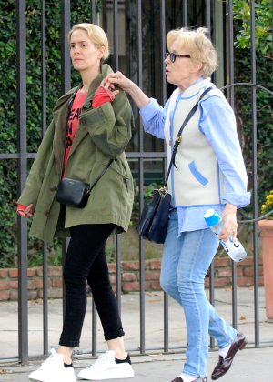 Sarah Paulson and Holland Taylor out in West Hollywood