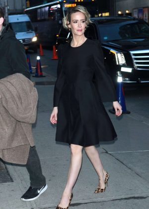 Sarah Paulson - Arrives to 'The Late Show With Stephen Colbert' in New York