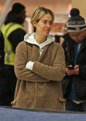 Sarah Paulson at JFK airport in New York