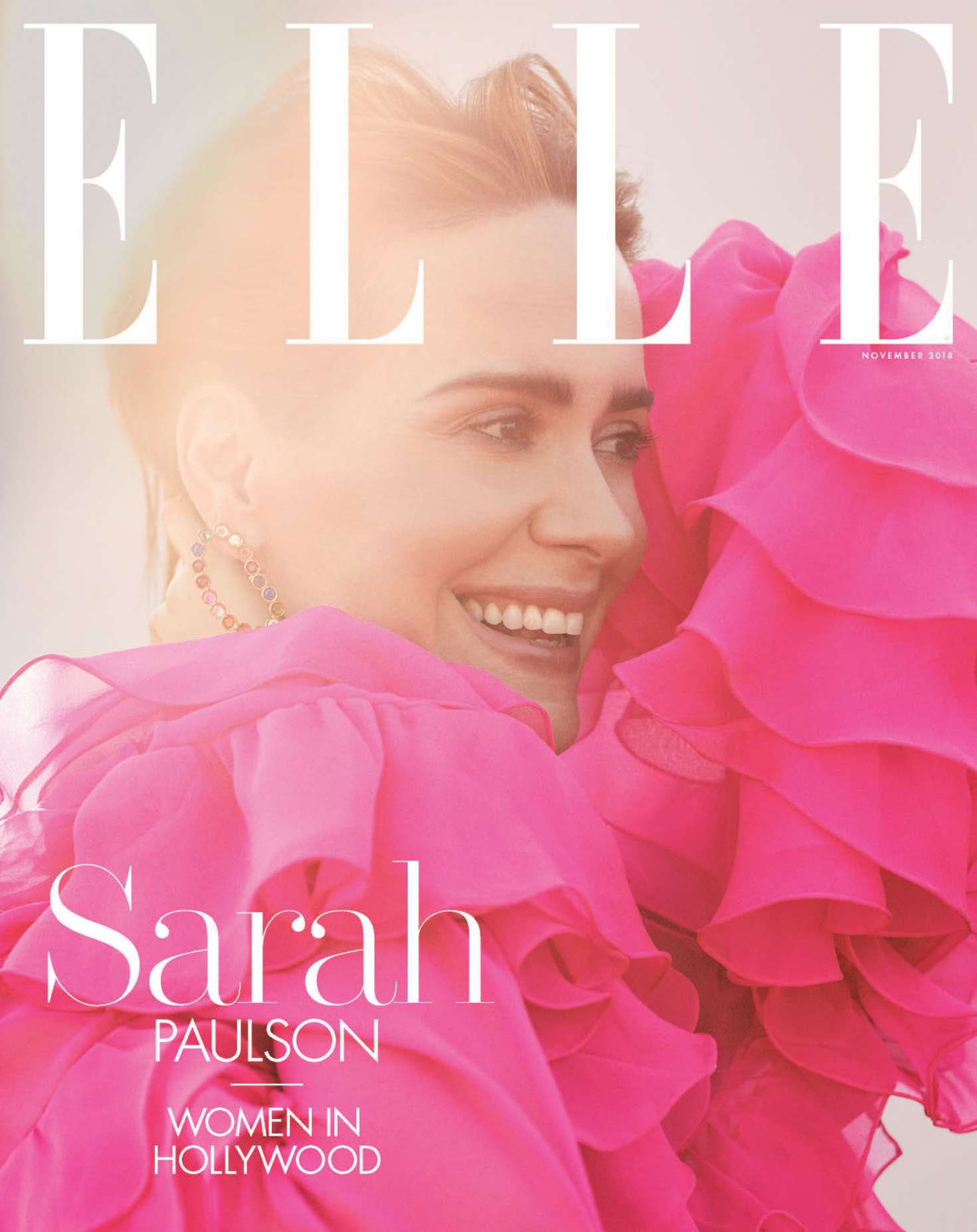 Sarah Paulson 2018 : Sarah Paulson: Elle US The Women In Hollywood 2018 -01
