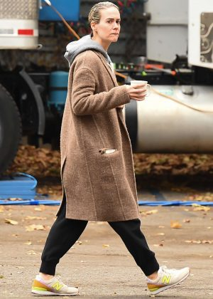 Sarah Paulson - Filming 'Ocean's Eight' in New York City