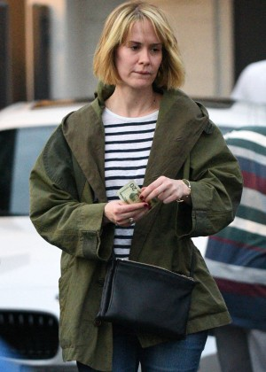 Sarah Paulson - Leaving Meche Salon in Beverly Hills