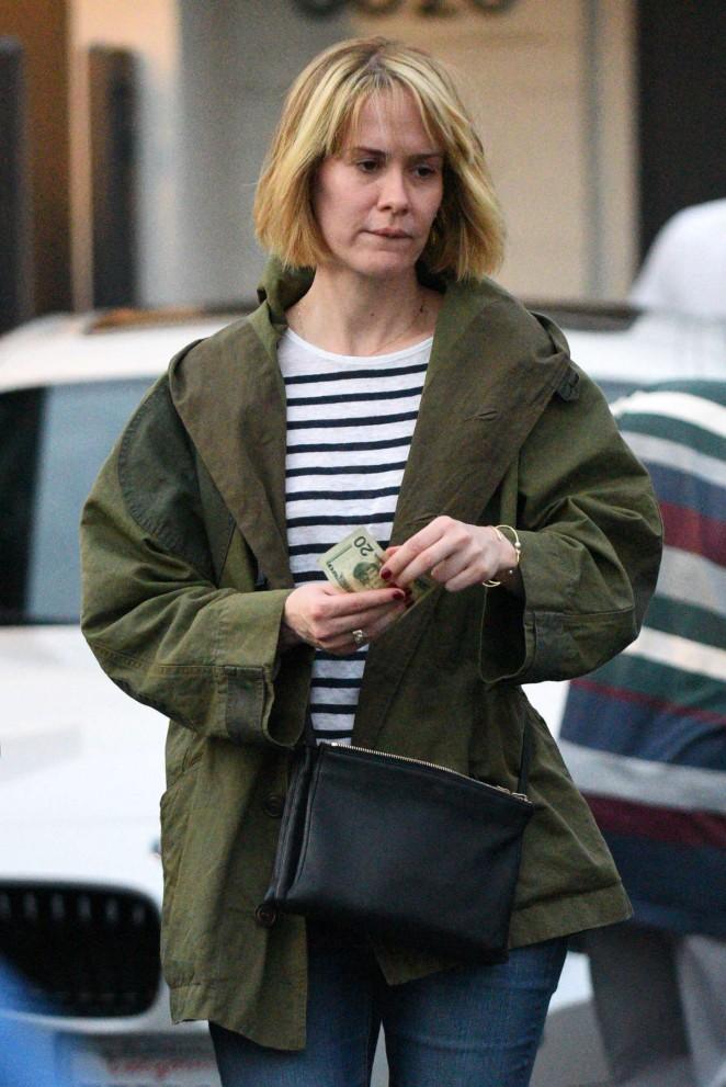 Sarah Paulson - Leaving Meche Salon in Beverly Hills