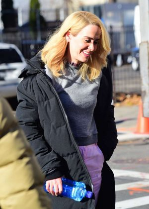 Sarah Paulson on set of 'Ocean's 8' in New York