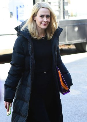 Sarah Paulson - On set of 'Ocean's Eight' in New York City