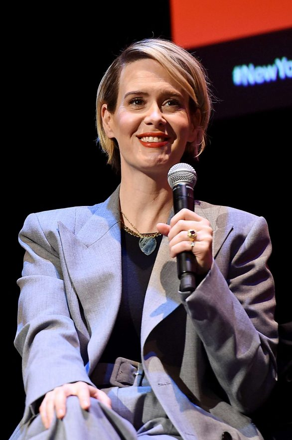 Sarah Paulson - Speaks onstage during a talk with Michael Schulman in New York City