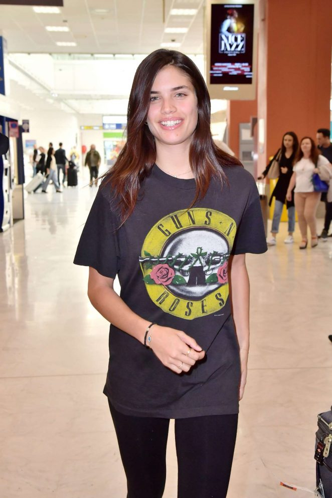 Sarah Sampaio Arriving at Airport in Nice