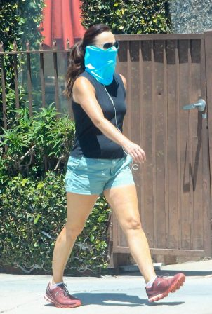 Sarah Shahi - Goes for a walk in West Hollywood