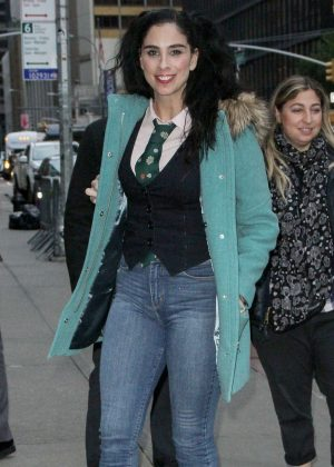 Sarah Silverman - Arrives at The Late Show With Stephen Colbert in NYC