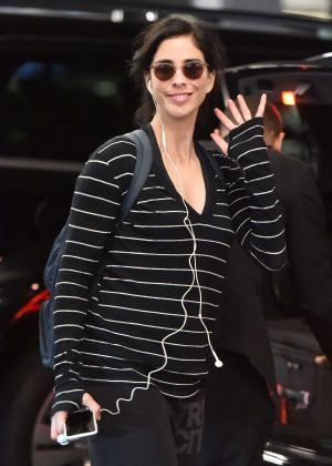 Sarah Silverman at JFK International Airport in NYC