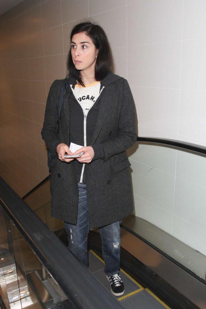 Sarah Silverman at LAX Airport -01