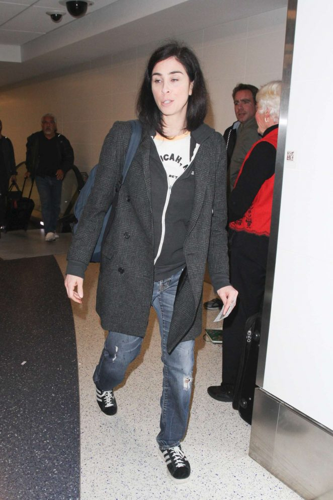 Sarah Silverman at LAX Airport in Los Angeles