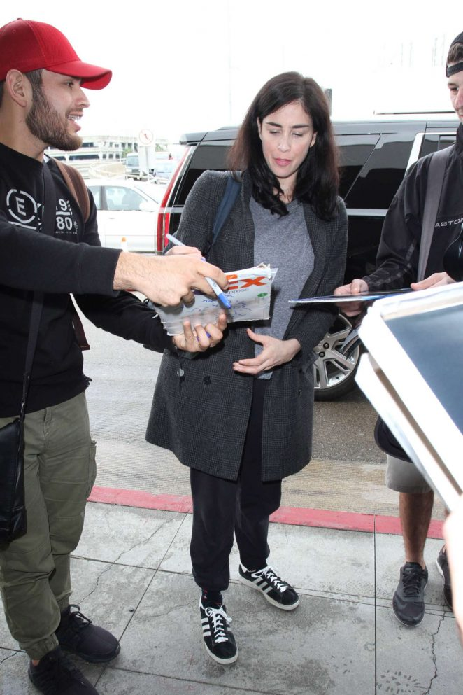 Sarah Silverman at LAX Airport -06