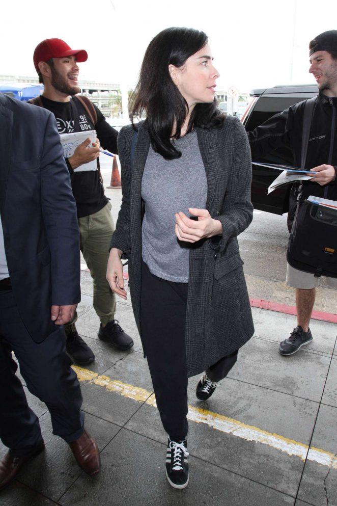 Sarah Silverman at LAX Airport -09