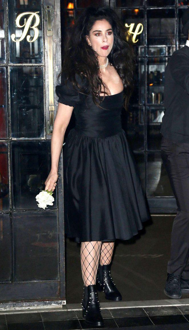 Sarah Silverman In Black Dress 05 Gotceleb