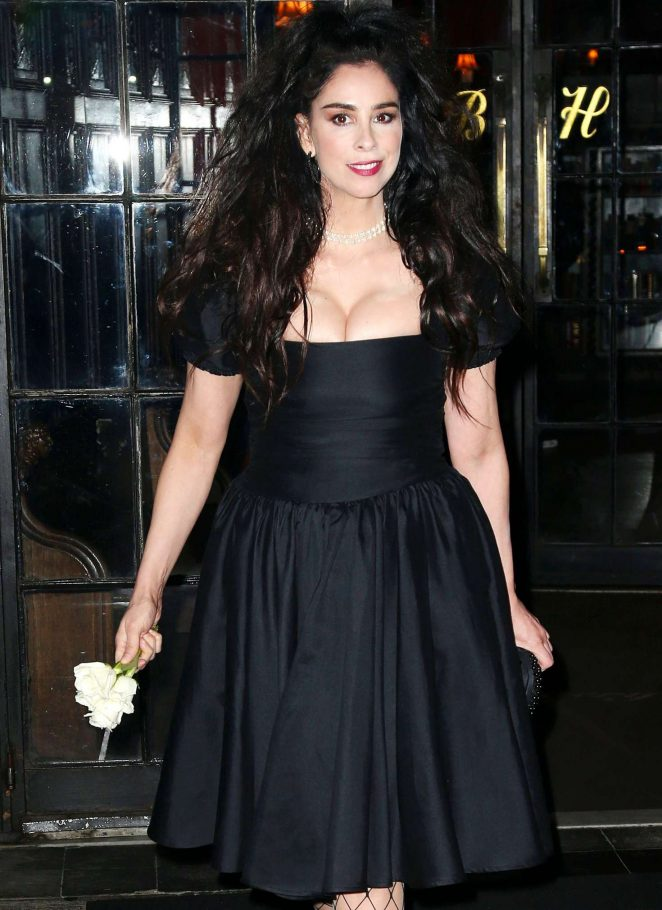 Sarah Silverman in Black Dress out in New York