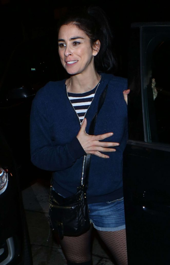 Sarah Silverman Leaves Craigs Restaurant in West Hollywood