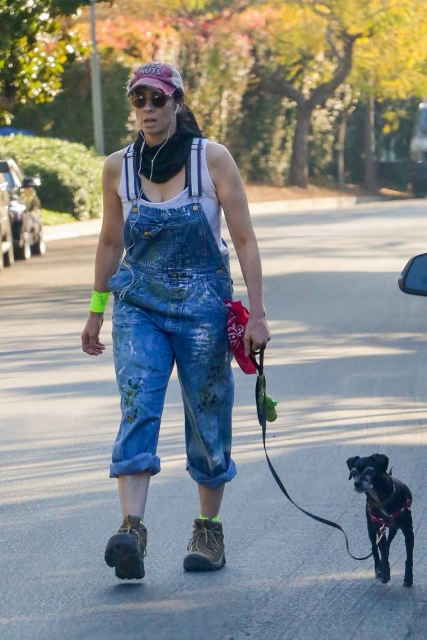 Sarah Silverman - Seen at the dog park near her home in Los Feliz