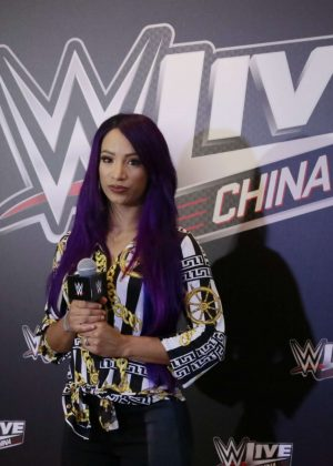 Sasha Banks - 2018 WWE Press Conference In Shanghai