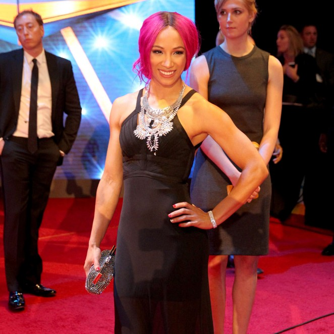 Sasha Banks - WWE Hall of Fame Ceromony 2016 in Dallas