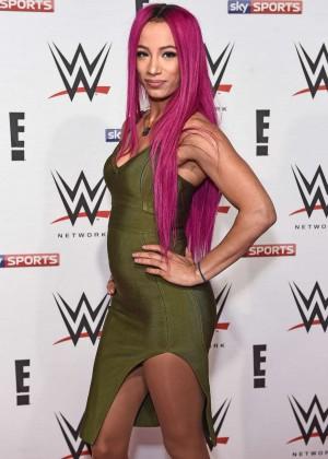 Sasha Banks - WWE Preshow Party at the O2 Arena in London