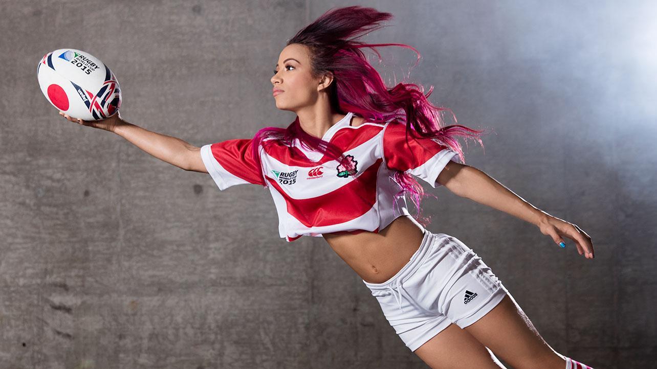 Sasha Banks Wwe Rugby World Cup Divas Shoot 2015 05