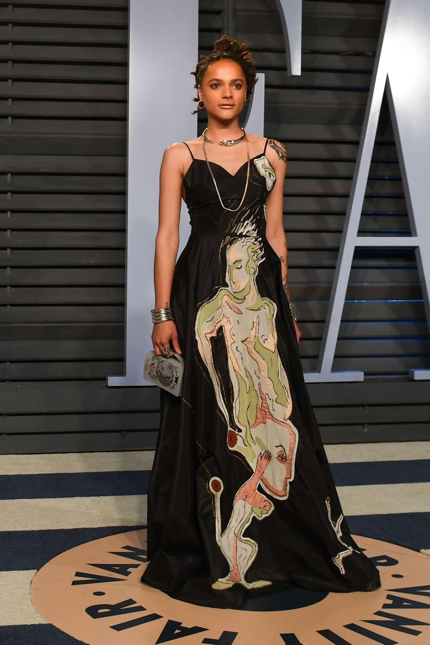 Sasha Lane: 2018 Vanity Fair Oscar Party -04   GotCeleb