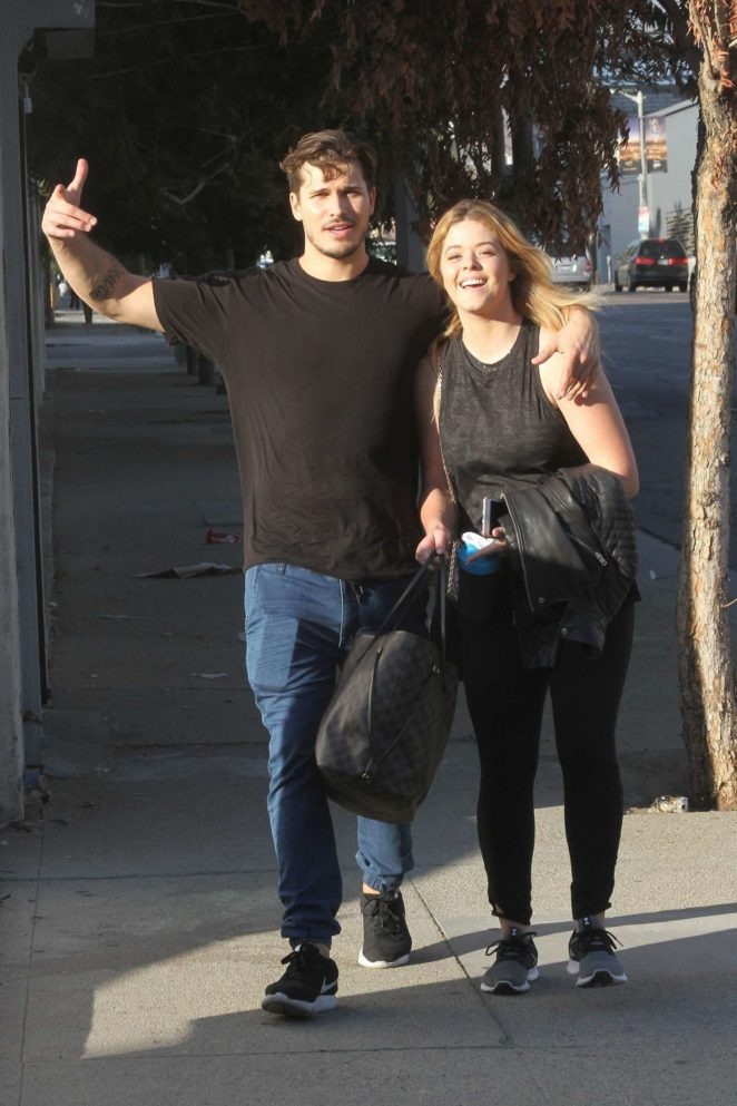 Sasha Pieterse and Gleb Savchenko - Leaves dance practice in LA