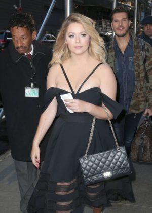 Sasha Pieterse - Arriving on Good Morning America in NYC