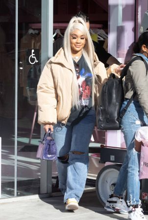 Saweetie - Shopping at PLT store in West Hollywood