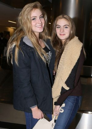 Saxon and Brighton Sharbino at LAX airport in Los Angeles