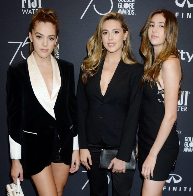 Scarlet, Sistine and Sophia Stallone - 2017 HFPA and InStyle Golden Globe Season in LA