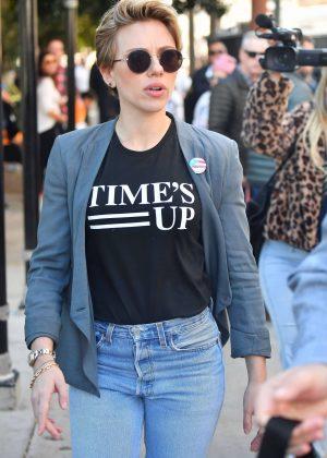 Scarlett Johansson - 2018 Women's March in Los Angeles