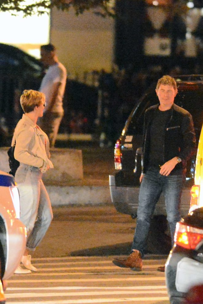 Scarlett Johansson and Bobby Flay out for a dinner -02
