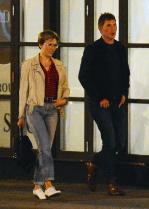 Scarlett Johansson and Bobby Flay out for a dinner in NY