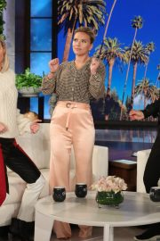 Scarlett Johansson and Brie Larson - On 'The Ellen DeGeneres Show' in LA