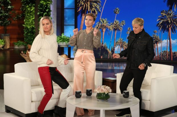 Scarlett Johansson and Brie Larson - On 'The Ellen DeGeneres Show' in LA
