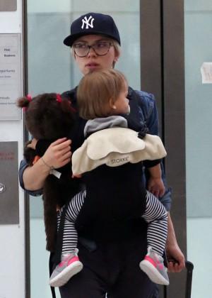 Scarlett Johansson Arrives at Sydney Airport