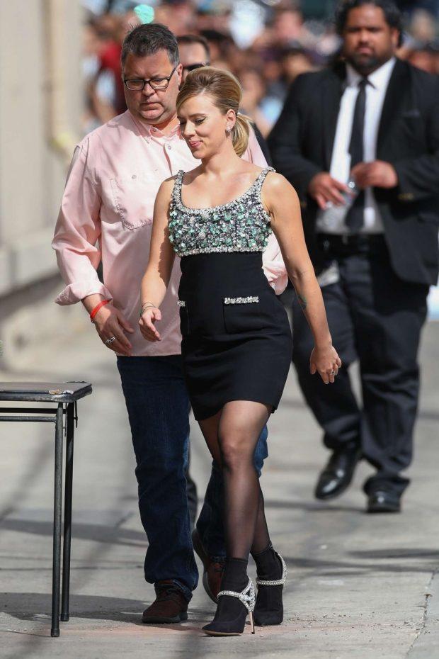Scarlett Johansson: Arriving at Jimmy Kimmel Live -01