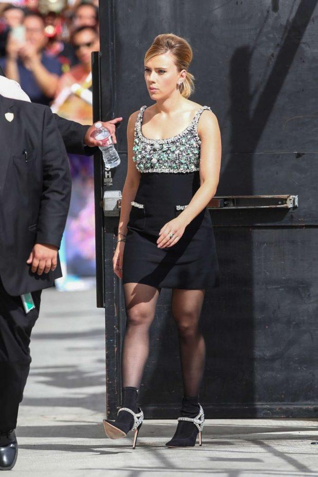 Scarlett Johansson: Arriving at Jimmy Kimmel Live -02