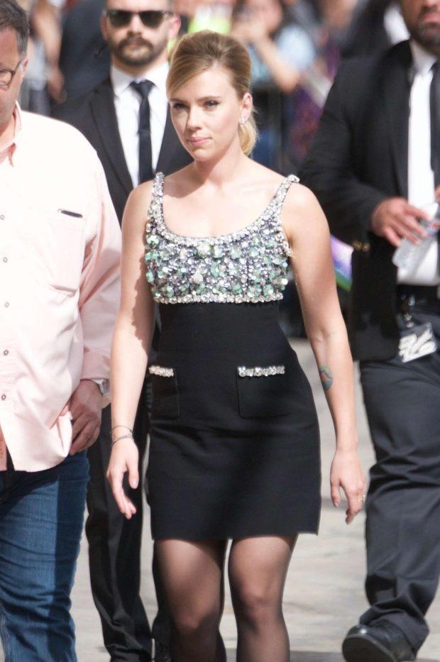Scarlett Johansson - Arriving at 'Jimmy Kimmel Live!' in Hollywood