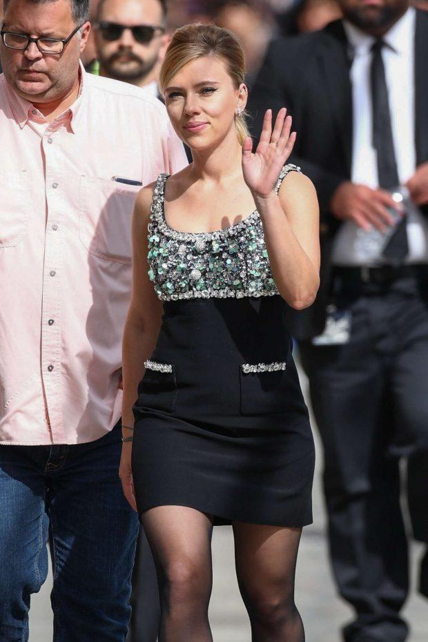 Scarlett Johansson: Arriving at Jimmy Kimmel Live -16
