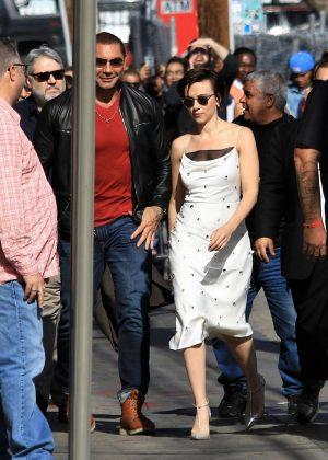 Scarlett Johansson - Arriving at Jimmy Kimmel Live! in LA