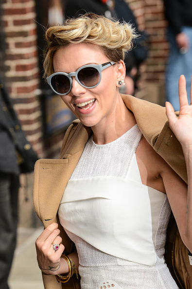 Scarlett Johansson - Arriving at The 'Late Show with David Letterman' in NYC