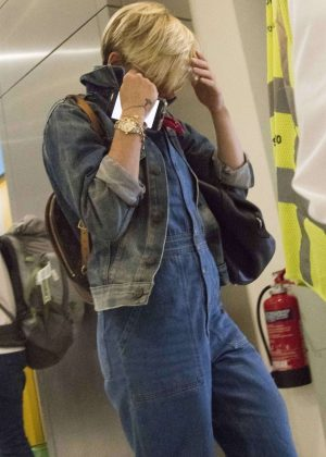 Scarlett Johansson at Athens Airport in Greece
