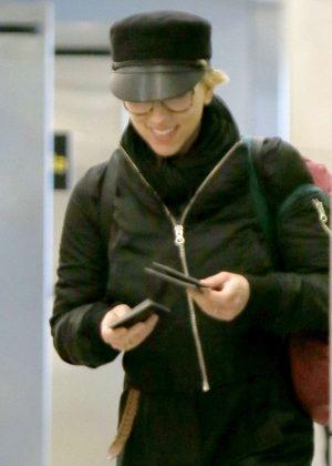 Scarlett Johansson at JFK Airport in New York