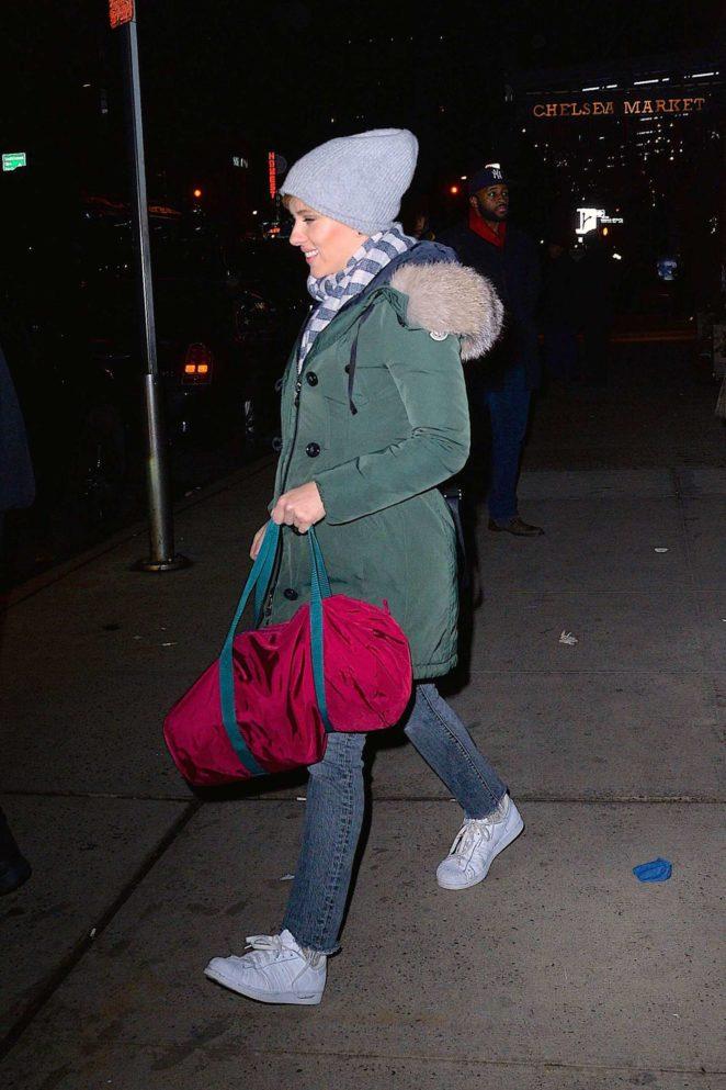 Scarlett Johansson - Attends the SNL afterparty at Buddakan restaurant in NY