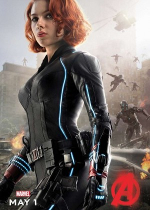 "Scarlett Johansson - ""Avengers: Age of Ultron"" Movie Premiere Poster 2015"