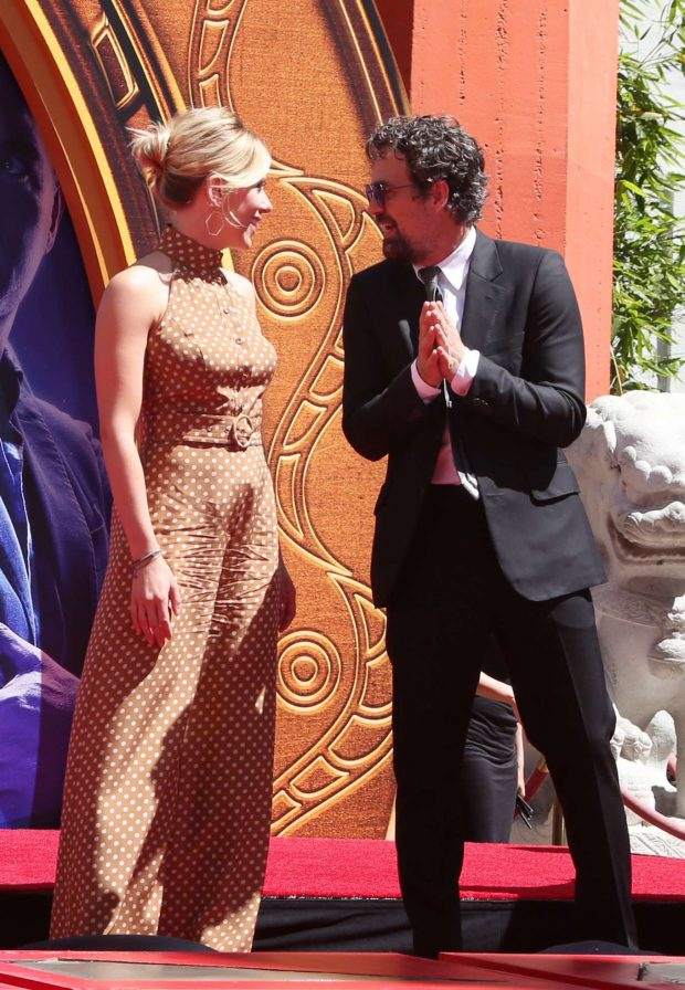 Scarlett Johansson: Avengers: Endgame Hand Print Ceremony -03