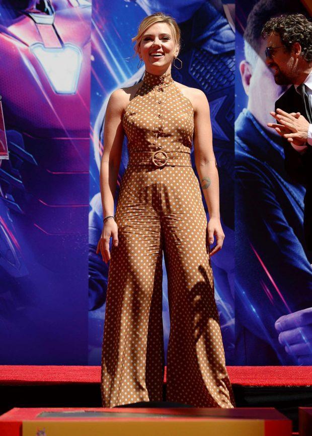 Scarlett Johansson: Avengers: Endgame Hand Print Ceremony -05